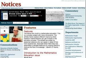 Notices AMS March 2011