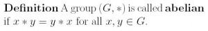 Definition of Abelian