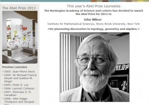 Milnor wins Abel Prize