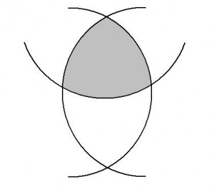 Constant width shape (shaded)
