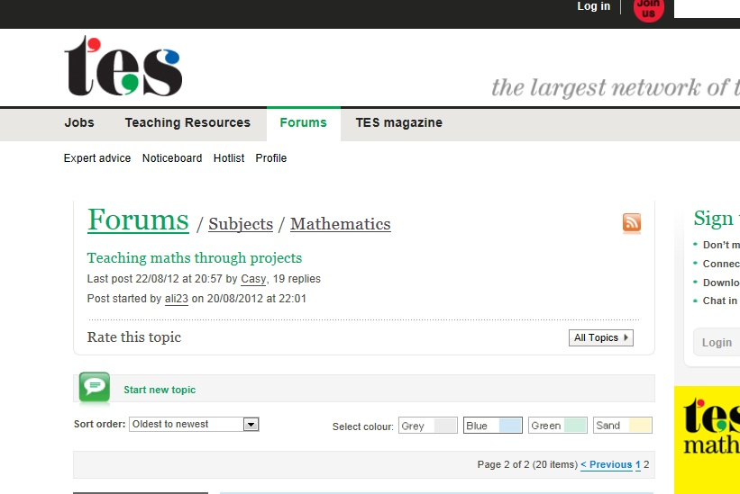TES forum picture