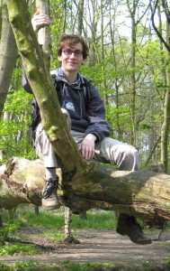 Richard Elwes in a tree