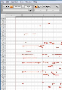 Melodyne analysis of the chord
