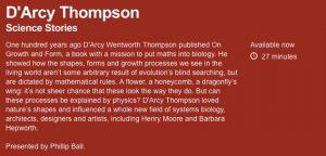 D'Arcy Thompson on the radio