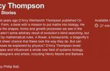 D'Arcy Thompson radio programme