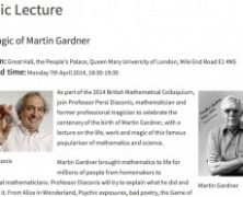 Persi Diaconis Lecture on Martin Gardner at BMC